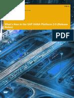 Whats New SAP HANA Platform Release Notes En