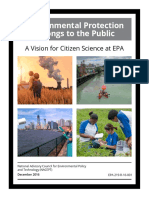 EPA guidelines for Citizen Science - December, 2016