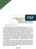 A Educação Bilingue Em Angola
