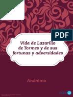 Vida de Lazarillo de Tormes y de Sus Fortu_Anónimo