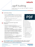 Login Logoff Auditing Quick Reference Guide