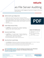 Windows File Server Auditing Quick Reference Guide