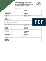 Formato Reporte de Incidentes Externos en Ecuapass