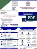 Diptico Maestria en Gerencia Mencion Finanzas