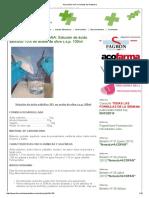 Salicilico en Aceite