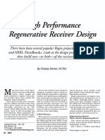 High Performance Regenerative Receiver Design
