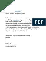 Model E-mail angajare