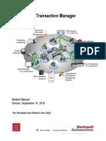 FactoryTalk Transaction Manager Student Training Manual