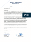 US Congressional Delegation Letter to President of Romania in support of Marriage
