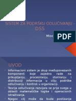 Sistem Za Podršku Odlučivanju- Dss