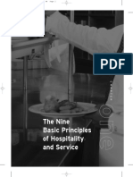 The Nine Basic Principles of Hospitality and Service
