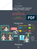 One Year Risk of Stroke after TIA or Minor Stroke