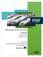 Winnipeg taxi final report