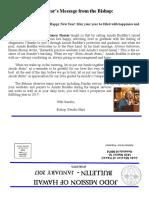 Jodo Mission Bulletin - January 2017