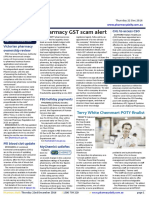 Pharmacy Daily for Thu 22 Dec 2016 - Pharmacy GST scam alert, Pharmacist struck off, Victorian pharmacy ownership review, Travel Specials and more