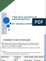 Argument Parts Declaration of Independence