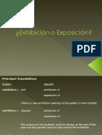 Exhibición o Exposición