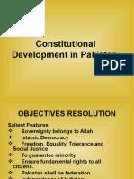 Constitutional Dev in Pak