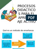 Procesos Didacticos Para El Aprendizaje Activo