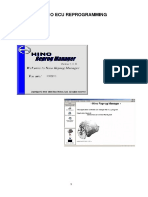 C74915 HINO ECU Reprogramming | Personal Computers | Power