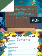 edu 348 theme unit - under the sea theme