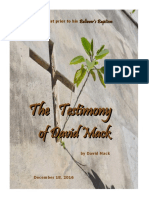 The Testimony of David Mack