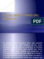 Valores y Fines Del Derecho