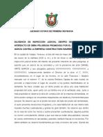 EJEMPLO DE ACTA DE INSPECCIÓN JUDICIAL