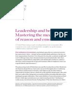 Leadership and Behavior Mastering the Mechanics of Reason and Emotion