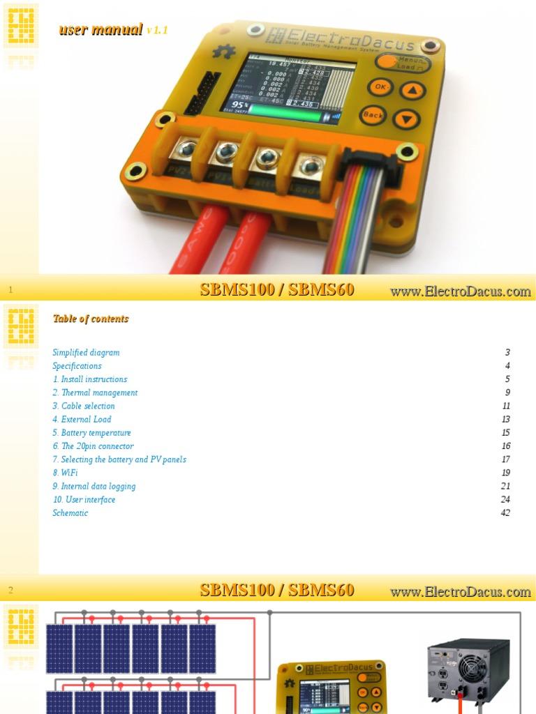 SBMS User Manual | Power Inverter | Battery (Electricity)