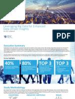 Leveraging Big Data for Enhanced Data Driven Insights