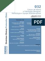 032 Cancer Mama Mastologia Equipe Multidisciplinar 09-09-2014