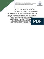 Proyecto de Instlacion Electrica Industrial de Baja Tension en 0