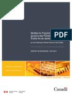 Modèles du Programme des services de police des Premières nations — Études de cas représentatives