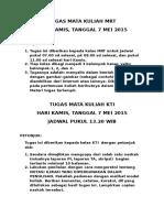 Tugas Mata Kuliah Mrt Dan Kti 7 Mei 2015