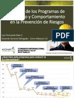Utilidad de Los Programas de Liderazgo y Comportamiento en La Prevención de Riesgos