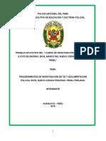 Monografia Procedimientos de Investigación de Tid y Documentación Policial en El Marco Del Nuevo Código Procesal Penal