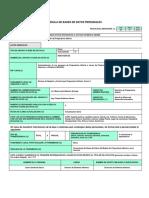 Cedula de Base de Datos Personales20150107