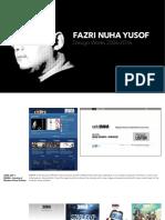Fazri Nuha Yusof 2016 Portfolio