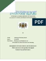 Internship Report..Muhammad Musaddaq Masood