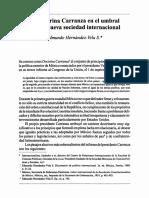 Edmundo Hernández Vela- La doctrina Carranza en el umbral de la nueva sociedad internacional