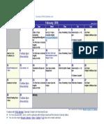 February Stand Up 2016 Calendar