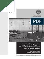 CARACTERIZACIÓN Y EFECTOS CÓDIGO DE BUEN GOBIERNO PARA EL SECTOR PÚBLICO.pdf