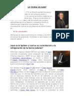 La Teoria de Kant