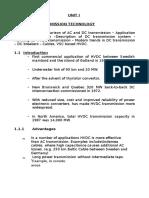 Unit 1 - DC Power Transmission Technology