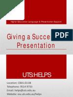 Giving a Successful Presentation