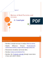 Chapter 4- Motion of Fluid Particles and Streams