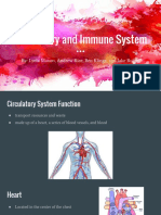 circulatory and immune system