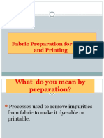 Preparation of Fabric
