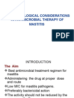 Mastitis Therapy Considerations